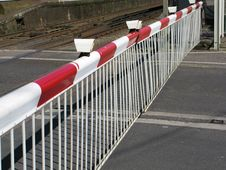 Free Automatic Rail Barrier Royalty Free Stock Photo - 4839905