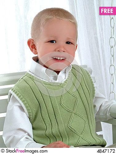 Free Boy On Swing Stock Photography - 4847172