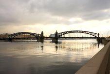 Free The Iron Bridge Bolsheohtinskiy Stock Image - 4840001