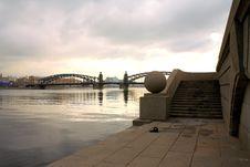 Free The Iron Bridge Bolsheohtinskiy Royalty Free Stock Image - 4840046