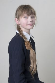 Free School Girl Royalty Free Stock Photos - 4840208