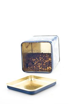 Tea Box With Tea Stock Image