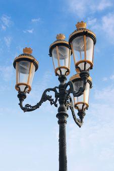 Free Decorative Street Lamp Royalty Free Stock Photos - 4840848