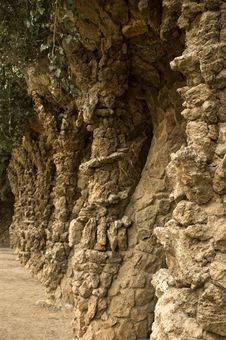 Free Park Guell. Barcelona. Antonio Gaudi Royalty Free Stock Images - 4842069