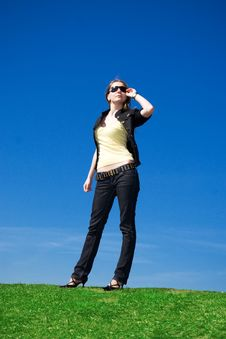 Free The Young Attractive Girl On A Background Stock Images - 4842274