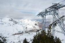 Free Chair Lifts At The Top Of The Moutain Stock Image - 4842561