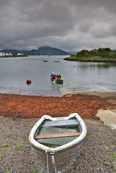 Free Canoeing On Loch Carron Stock Images - 4843004