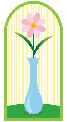 Flower In Bud Vase On Table Royalty Free Stock Images