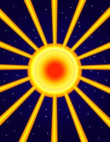 Abstract Sun Explosion Stock Image
