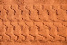 Car Tracks In Sand Royalty Free Stock Image