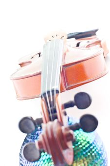 Violin And Disco Ball Stock Image