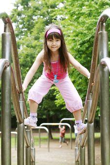 Free Girl Plays On Playground Stock Photos - 4846313