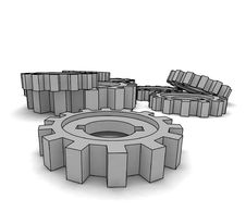 Free Isolated Cogwheels Stock Photo - 4846350