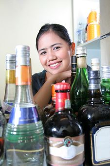 Free Bar Staff Royalty Free Stock Photos - 4846478
