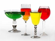 Free Four Tall Wine Glasses Stock Photos - 4846683