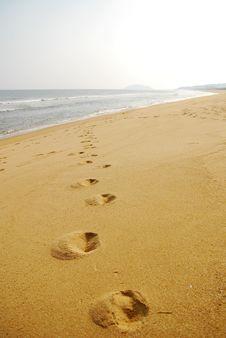 Free Footprint And Coast Stock Photo - 4846800
