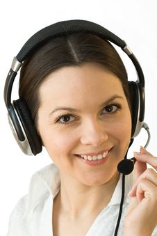 Free Young Beautiful Woman With Headphones Royalty Free Stock Photography - 4847257
