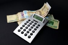 Free Money And Calculator Stock Photography - 4847792