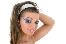 Free Girl With Face-art Butterfly Paint Royalty Free Stock Photography - 4848187