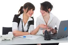 Free Business Women  Working Stock Photography - 4848392