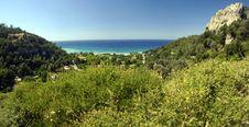 Beach On The Samos Island, Greece Stock Photos