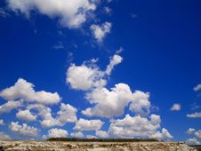Free White Clouds Blue  Sky Sun Royalty Free Stock Image - 4848916