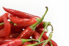 Free Red Chilis Royalty Free Stock Images - 4848929