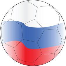 Soccer Vector Ball Russia Stock Photos