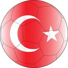 Soccer Vector Ball Turkey Royalty Free Stock Photography