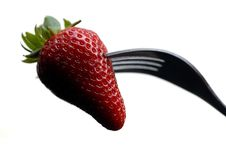 Free Fork And Strawberry Stock Images - 4849594