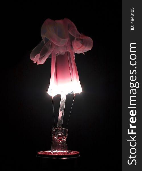 Burning Lightbulb with Red Hue