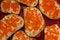 Free Sandwich With Caviar Royalty Free Stock Photo - 48494395