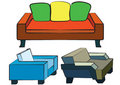 Free Orange Sofa Stock Photography - 4852382