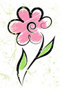 Free Flower On A Spotty Background Royalty Free Stock Photography - 4852717