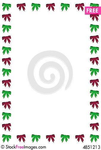Christmas bow border free stock images photos