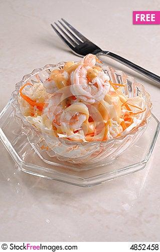 Free Prawn Salad Royalty Free Stock Photos - 4852458