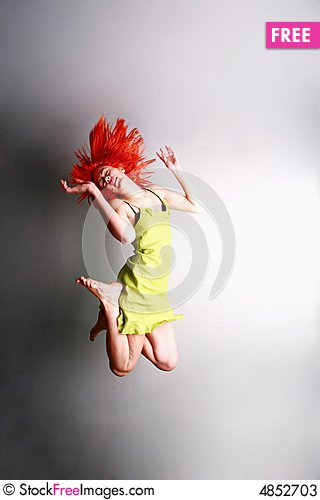Free Jump For Joy..... Stock Photos - 4852703