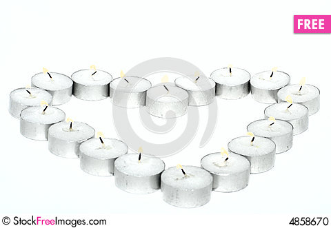 Free Heart From Candles Stock Photo - 4858670