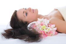 Free Attractive Woman Getting Spa Treatment Stock Image - 4850631