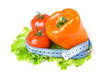 Free Vegetables And Measure Tape Royalty Free Stock Photography - 4850837