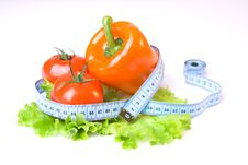Free Vegetables And Measure Tape-03 Royalty Free Stock Images - 4850839