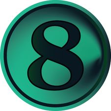 Free Numeral Button-eight Stock Image - 4851191