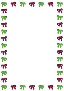 Free Christmas Bow Border Stock Photos - 4851213