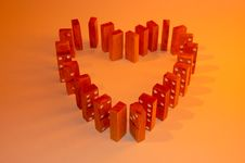 Free Colored Domino Heart Royalty Free Stock Photo - 4851245