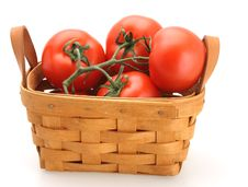 Free Basket Full Of Tomatoes Royalty Free Stock Photo - 4851505