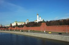 Free General View At Moscow Kremlin And Moskva River Royalty Free Stock Images - 4851509