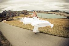 Free Spinning Bride Royalty Free Stock Image - 4851936