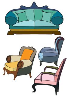 Free Double And Single Sofas Stock Photos - 4852313