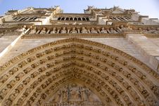 Free Facade Of Notre Dame De Paris Stock Photography - 4852442