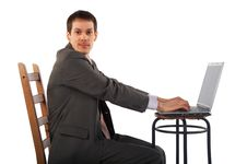 Free Young Businessman With Notebook Stock Images - 4852674